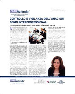 Controllo e vigilanza dell'Anac sui Fondi Interprofessionali