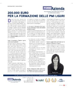 200.000 euro per la formazione delle PMI Liguri