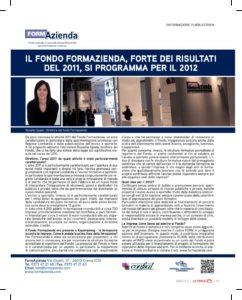 Il fondo Formazienda, forte dei risultati del 2011, si programma per il 2012