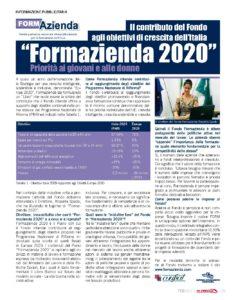 Formazienda 2020. Il contributo del Fondo agli obiettivi di crescita dell'Italia