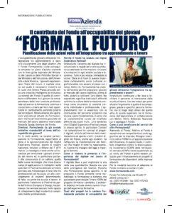 Forma il futuro. Il contributo del Fondo all'occupabilità dei giovani
