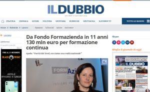DA FONDO FORMAZIENDA IN 11 ANNI 130 MLN EURO PER FORMAZIONE CONTINUA
