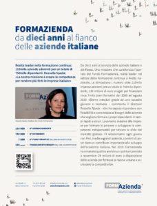 FORMAZIENDA:DA DIECI ANNI AL FIANCO DELLE IMPRESE ITALIANE
