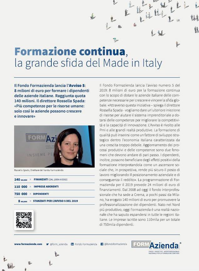Formazione continua: la grande sfida del Made in Italy
