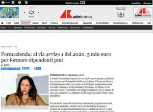 Formazienda: al via avviso 1 del 2020, 5 mln euro per formare dipendenti pmi