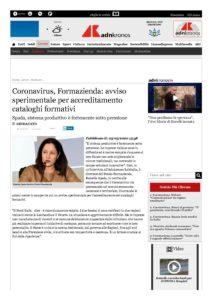 Coronavirus, Formazienda: avviso sperimentale per accreditamento cataloghi formativi