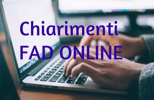 Chiarimenti Fad online