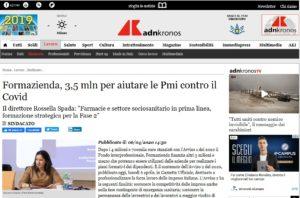 Formazienda, 3,5 mln per aiutare le Pmi contro il Covid
