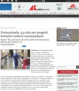 Formazienda, 3,5 mln per progetti formativi settore sociosanitario
