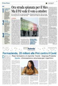 Formazienda, 20 milioni alle Pmi contro il Covid
