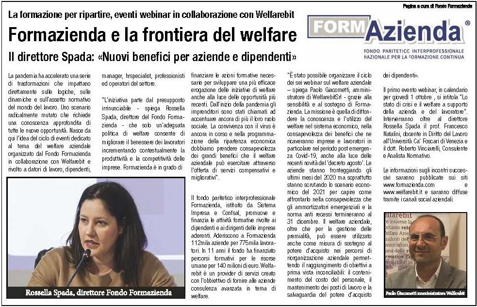 FORMAZIENDA E LA FRONTIERA DEL WELFARE