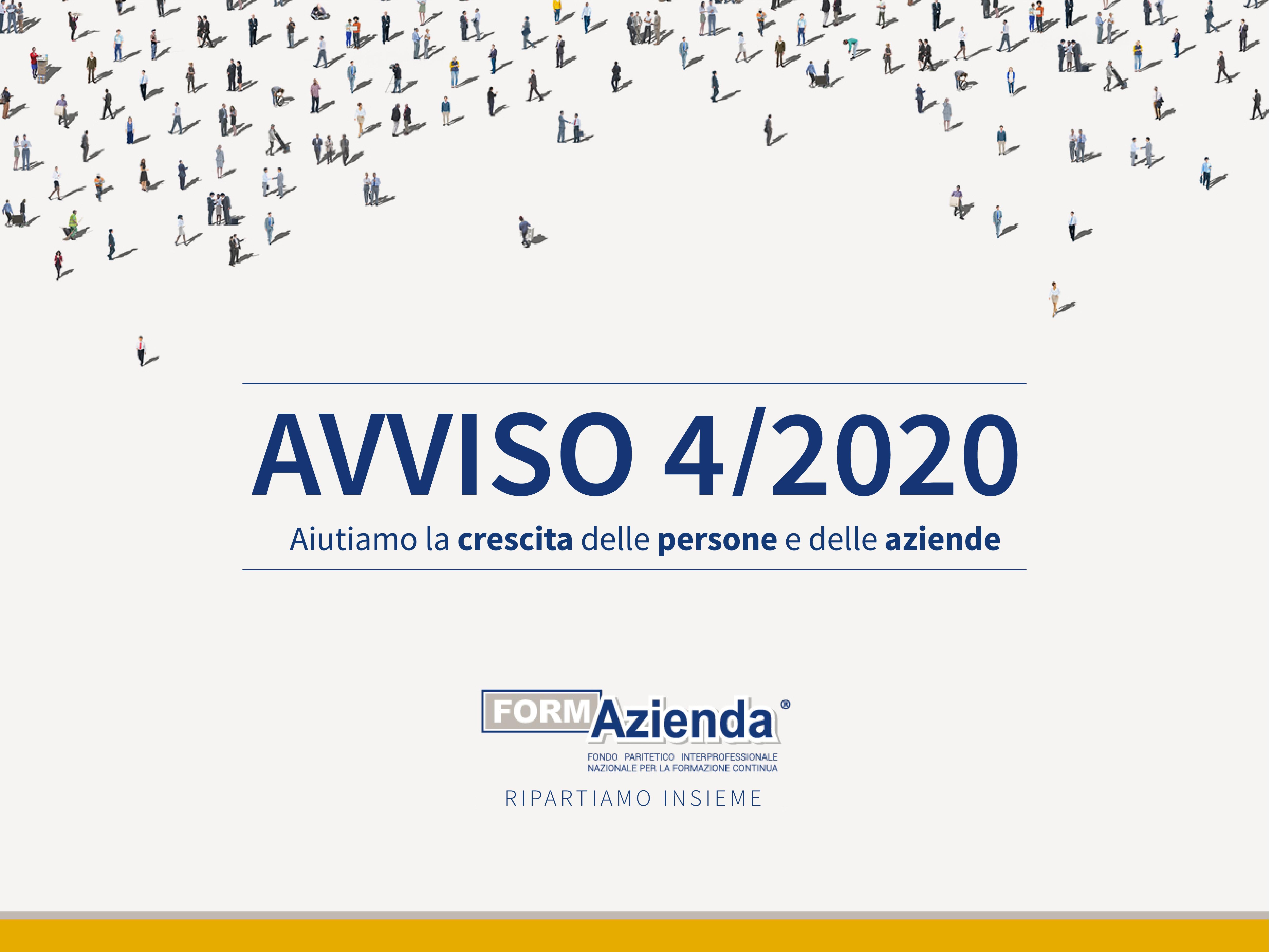 VIA ALL'AVVISO 4/2020 – STANZIATI 5 MILIONI PER AZIENDE E STRUTTURE FORMATIVE