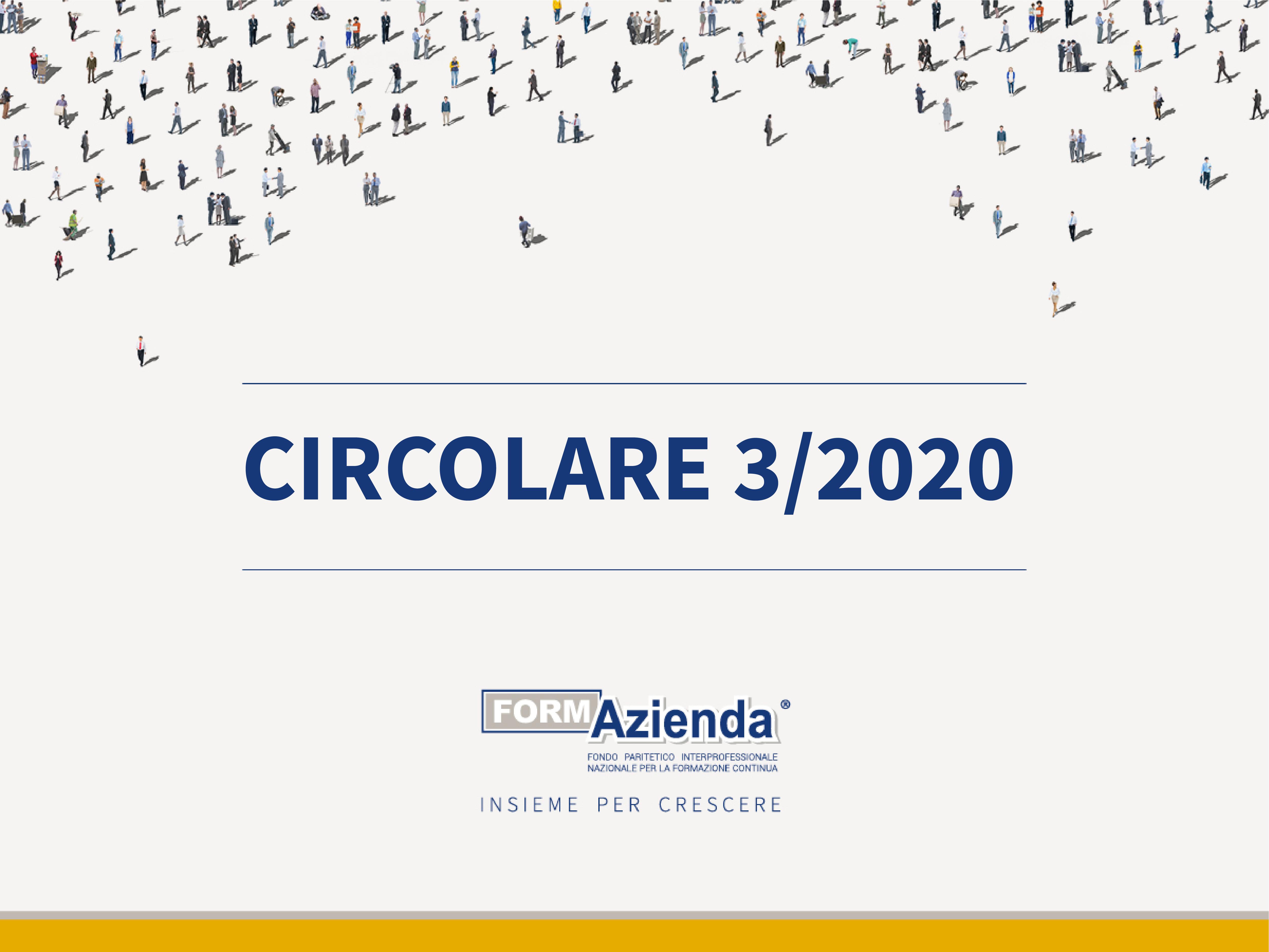 CIRCOLARE 3 – INFORMAZIONI INTEGRATIVE E NOMINA REVISORI AVVISI 1-5/2019