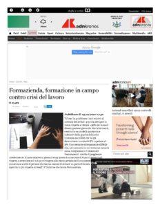 FORMAZIENDA, FORMAZIONE IN CAMPO CONTRO CRISI DEL LAVORO