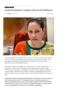 COVID, FORMAZIONE IN CAMPO CONTRO LA CRISI DEL LAVORO
