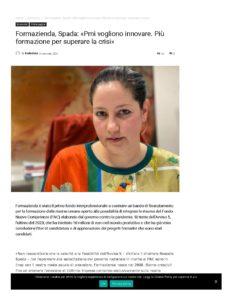 FORMAZIENDA, SPADA: «PMI VOGLIONO INNOVARE. PIÙ FORMAZIONE PER SUPERARE LA CRISI»