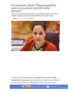 """FORMAZIENDA, SPADA: """"RIPRESA POSSIBILE SOLO SE SI RICONOSCE CENTRALITÀ DELLE PERSONE"""""""