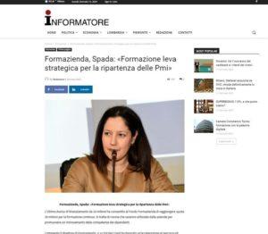 FORMAZIENDA, SPADA: «FORMAZIONE LEVA STRATEGICA PER LA RIPARTENZA DELLE PMI»