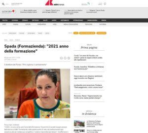 """SPADA (FORMAZIENDA): """"2021 ANNO DELLA FORMAZIONE"""""""