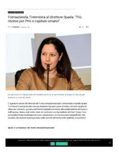 FORMAZIENDA, L'INTERVISTA AL DIRETTORE SPADA: «PIÙ RISORSE PER PMI E CAPITALE UMANO»