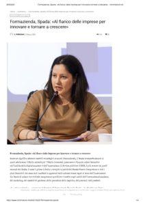 Formazienda, Spada: «Al fianco delle imprese per tornare a crescere»