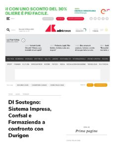 Dl Sostegno: Sistema Impresa, Confsal e Formazienda a confronto con Durigon
