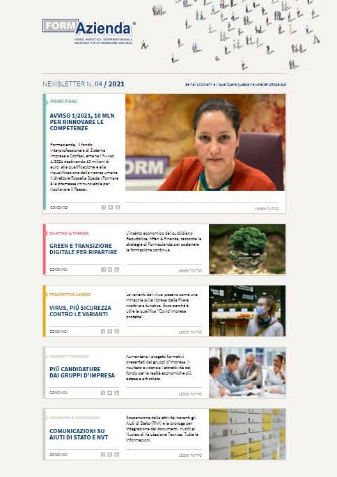 NEWSLETTER N.4 – LUGLIO/AGOSTO 2021